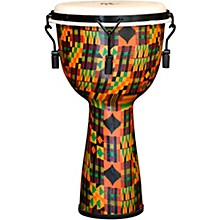 Kente Cloth Key-Tuned Djembe with Synthetic Head 10 x 18 in.