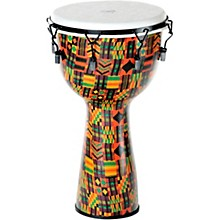 Kente Cloth Key-Tuned Djembe with Synthetic Head 12 x 24 in.