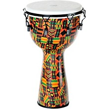 Kente Cloth Key-Tuned Djembe with Synthetic Head 14 x 26 in.
