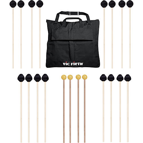 Vic Firth Keyboard Mallet 10-Pack w/ Free Mallet Bag - M182(4), M187(2), M188(2) ,M134(2)