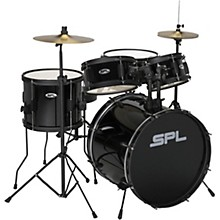 Kicker Pro 5-Piece Drum Set with Stands, Cymbals and Throne Black
