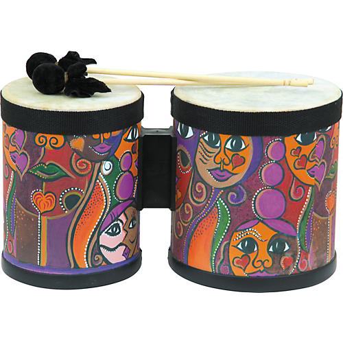 Universal Percussion Kid's Bongos with Colorful Print