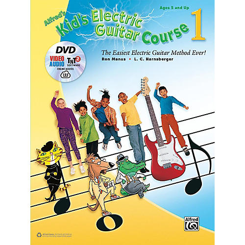 Alfred Kid's Electric Guitar Course 1 (Book/DVD/Online Streaming)
