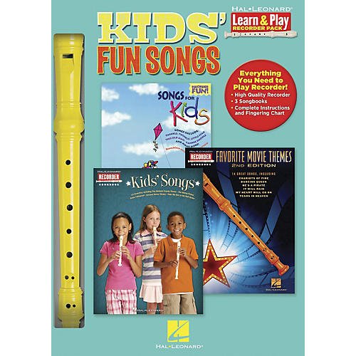 Hal Leonard Kids' Fun Songs Learn & Play 3-Book & Recorder Pack