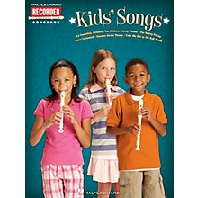 Hal Leonard Kids' Songs Recorder Series Softcover