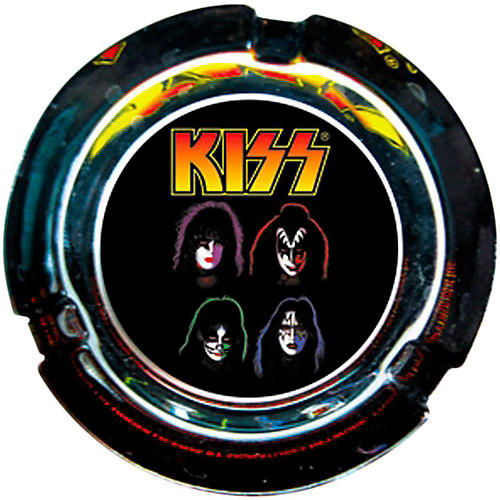 C&D Visionary Kiss Face Glass Ashtray