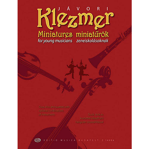 Editio Musica Budapest Klezmer Miniatures for Young Musicians EMB Series by Ferenc Jávori