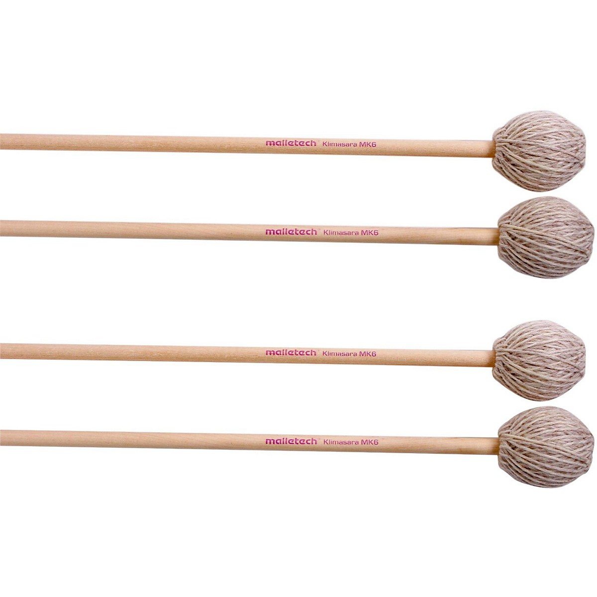 Malletech Klimasara Marimba Mallets Set of 4 (2 Matched Pairs)