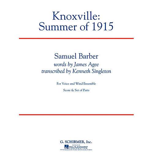 G. Schirmer Knoxville: Summer Of 1915 - Full Score Concert Band Composed by Samuel Barber