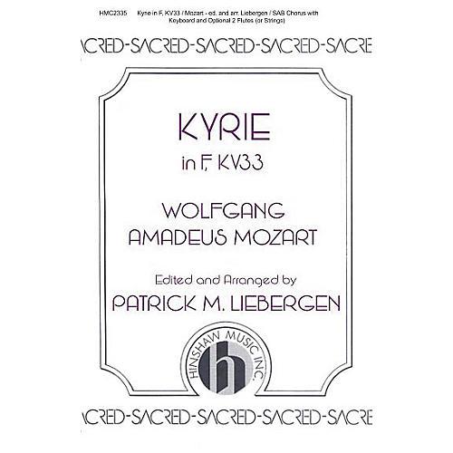 Hinshaw Music Kyrie In F, Kv33 SAB arranged by Patrick Liebergen