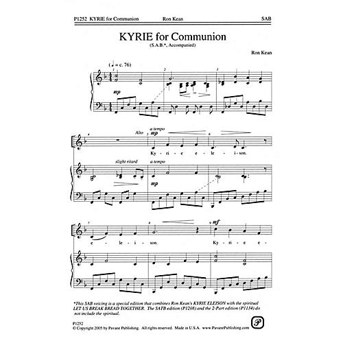Pavane Kyrie for Communion SAB composed by Ron Kean