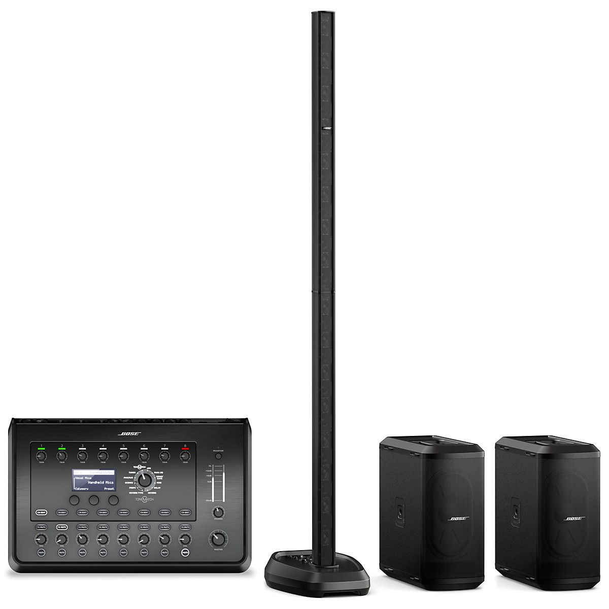 Bose L1 Pro32 Portable PA With Dual Sub1 Powered Bass Modules and T8S Audio Engine