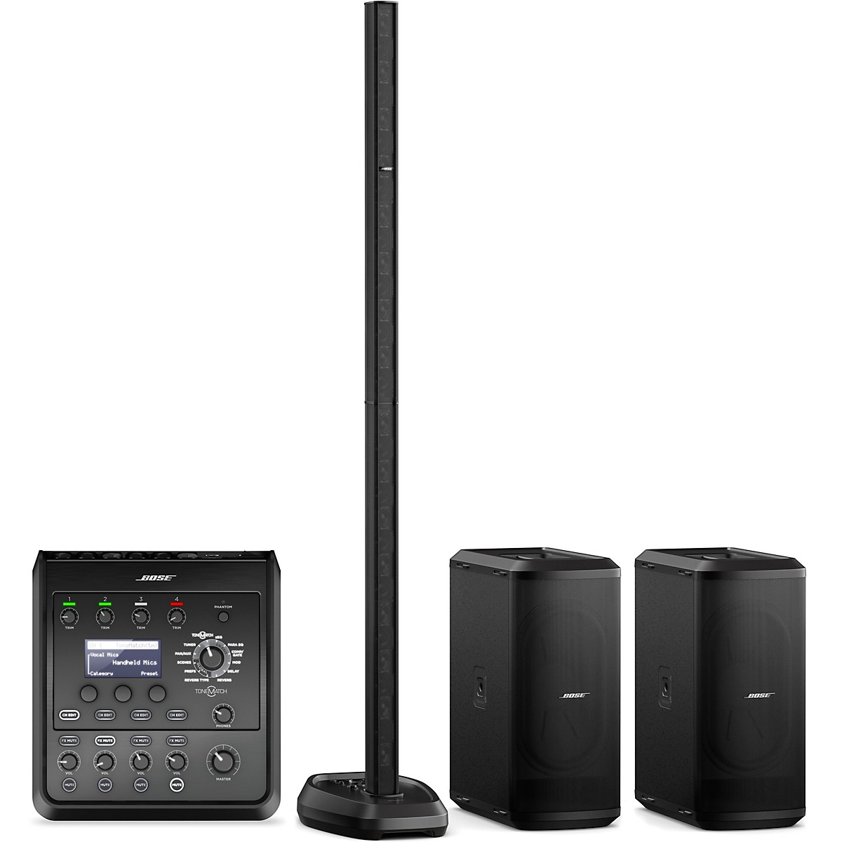 Bose L1 Pro32 Portable PA With Dual Sub2 Powered Bass Modules and T4S Audio Engine