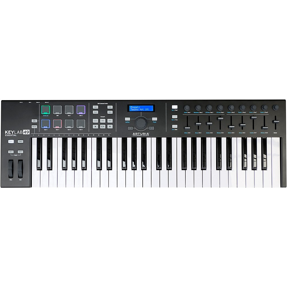 Arturia Keylab Essential 49 Black Edition Keyboard Controller