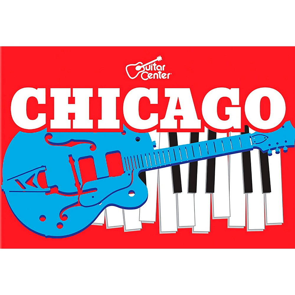 Guitar Center Chicago Guitar And Keyboard Graphic Sticker
