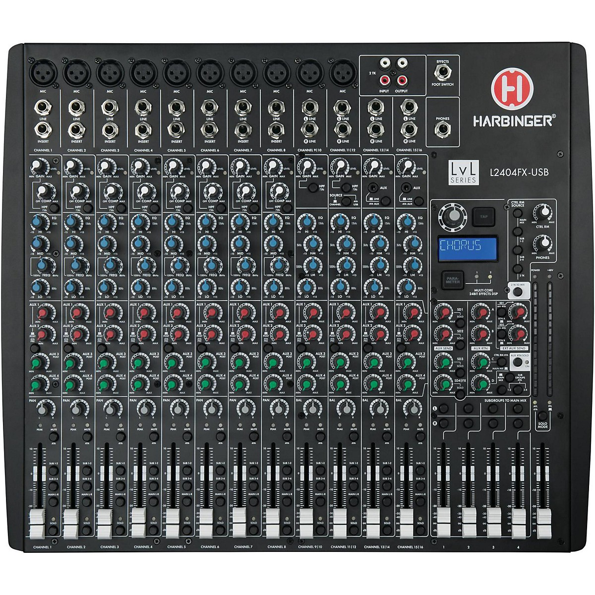 Harbinger L2404FX-USB 24-Channel USB Mixer with Effects