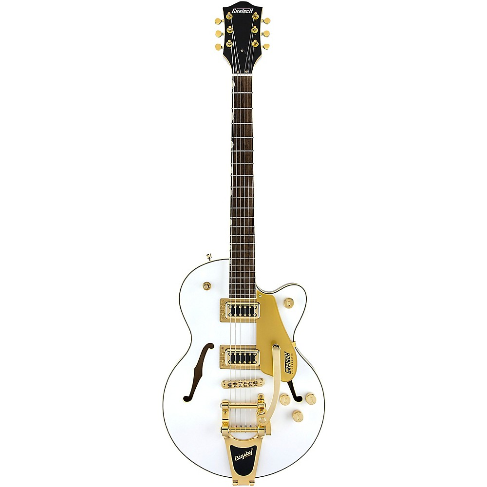 Gretsch Guitars G5655tg Electromatic Center Block Jr. With Bigsby Limited Edition Semi-Hollow Electric Guitar Snow Crest White 1500000221854