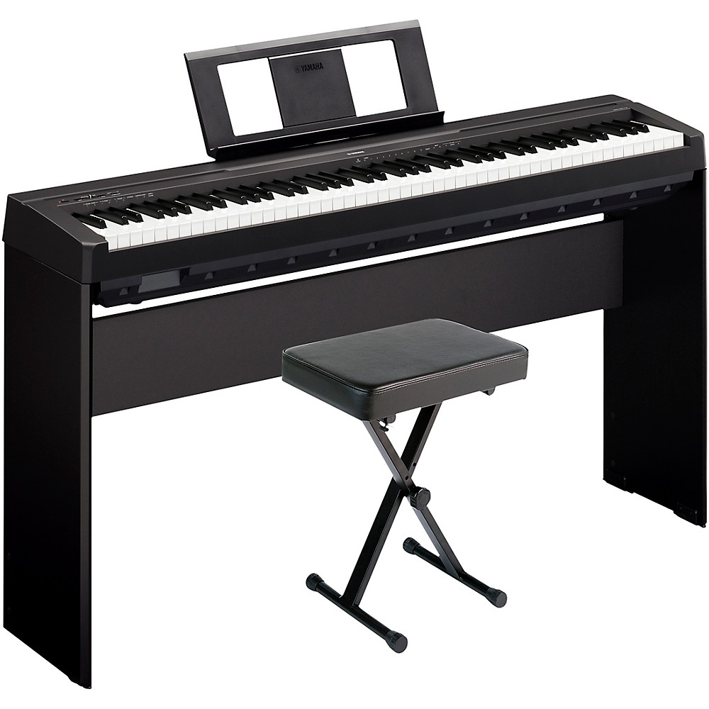 Yamaha P-45Lxb Digital Piano With Stand And Bench Black