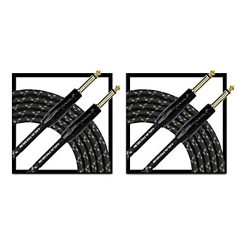 2-Pack Kirlin Premium Plus 20-Feet Instrument Cable