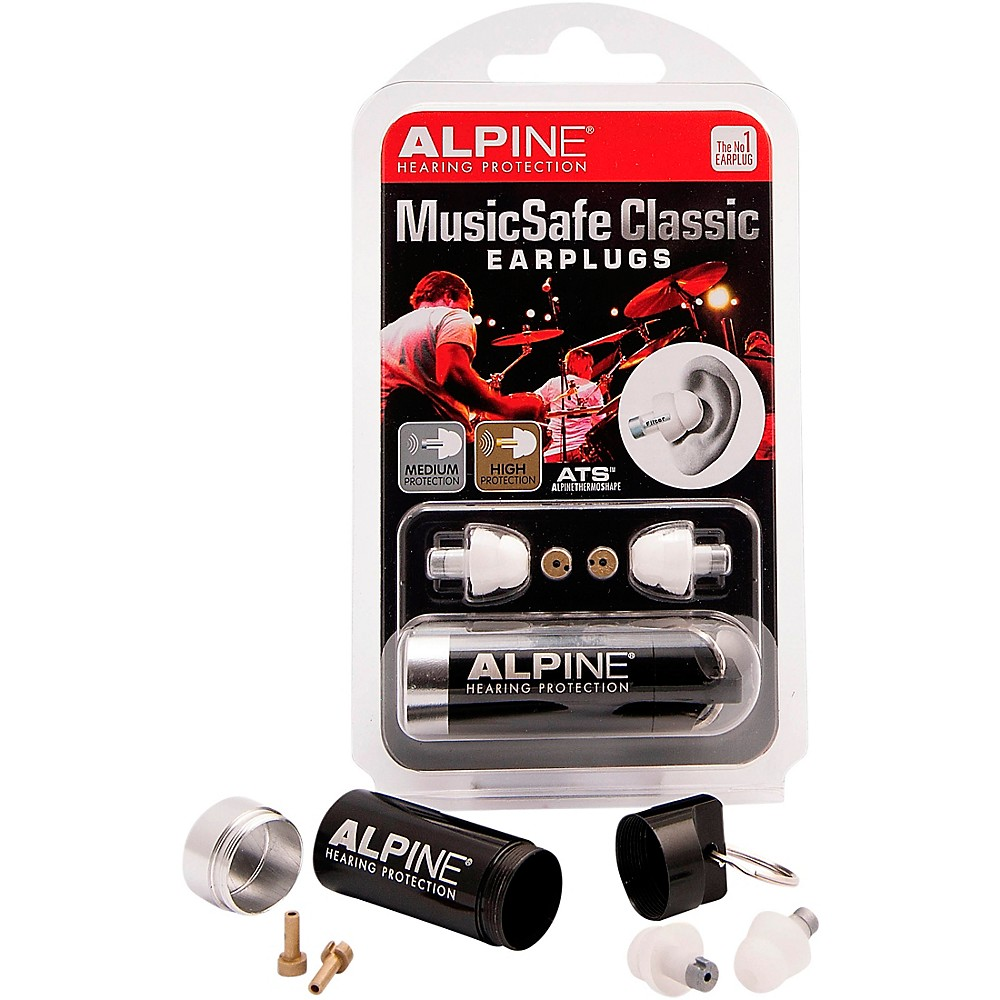 2. Alpine Hearing Protection Classic Earplugs for Musicians