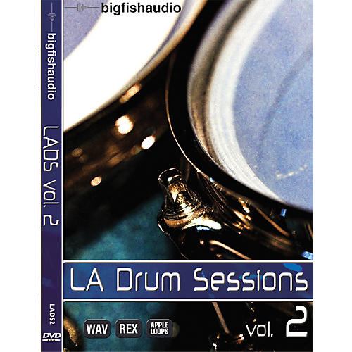 Big Fish LA Drum Sessions Vol. 2 Sample Library DVD