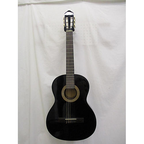 used lucero lc100 classical acoustic guitar black guitar center. Black Bedroom Furniture Sets. Home Design Ideas