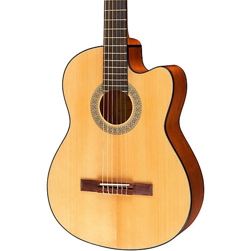 lucero lc100ce acoustic electric cutaway classical guitar natural guitar center. Black Bedroom Furniture Sets. Home Design Ideas