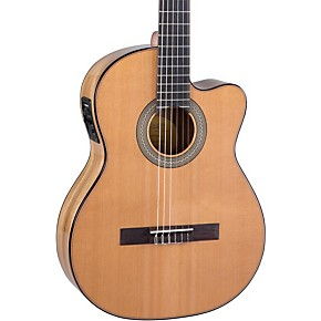 lucero lc235sce acoustic electric exotic wood classical guitar natural guitar center. Black Bedroom Furniture Sets. Home Design Ideas