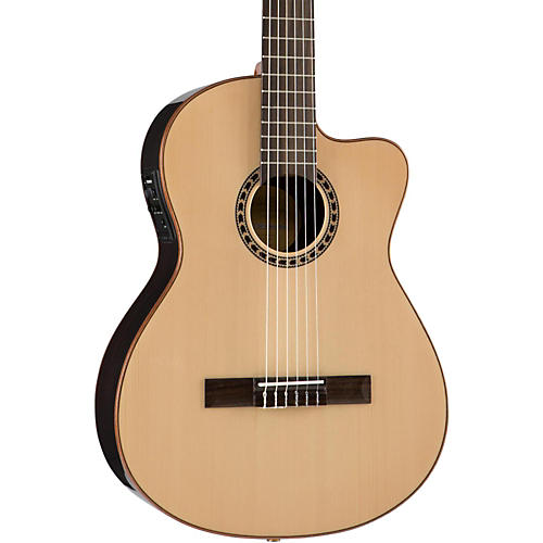 Lucero LFN200Sce Spruce/Rosewood Thinline Acoustic-Electric Classical Guitar