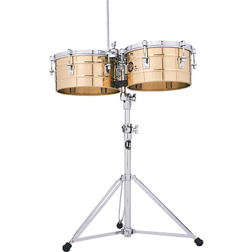 LP LP256-BZ Tito Puente 13 Inch and 14 Inch Bronze Timbales