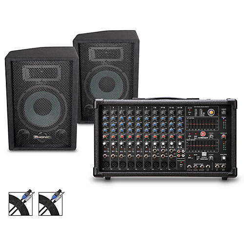 Harbinger LP9800 Powered Mixer with S7 PA Package