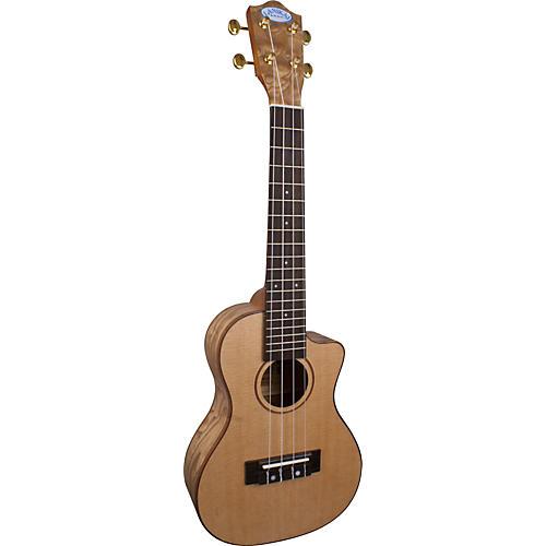 Lanikai LQA-CCA Quilt Ash Concert Cutaway Acoustic-Electric Ukulele