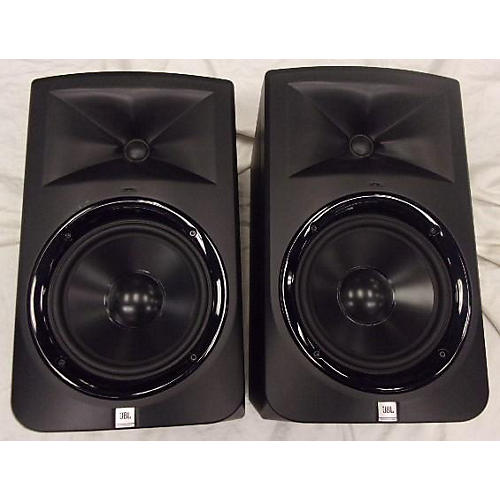 used jbl lsr308 pair powered monitor guitar center. Black Bedroom Furniture Sets. Home Design Ideas