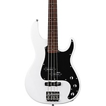 LTD AP-204 Electric Bass Guitar Snow White Black Pickguard