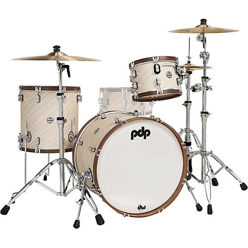 PDP by DW LTD Concept Maple 3-Piece Shell Pack With Walnut Hoops