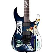 LTD Kirk Hammett Signature White Zombie Electric Guitar Graphic