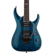 LTD MH-401QM Electric Guitar Level 2 See-Thru Blue 888366049587