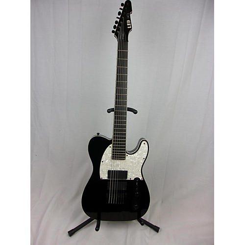 used esp ltd sct607b stephen carpenter signature 7 string solid body electric guitar black. Black Bedroom Furniture Sets. Home Design Ideas