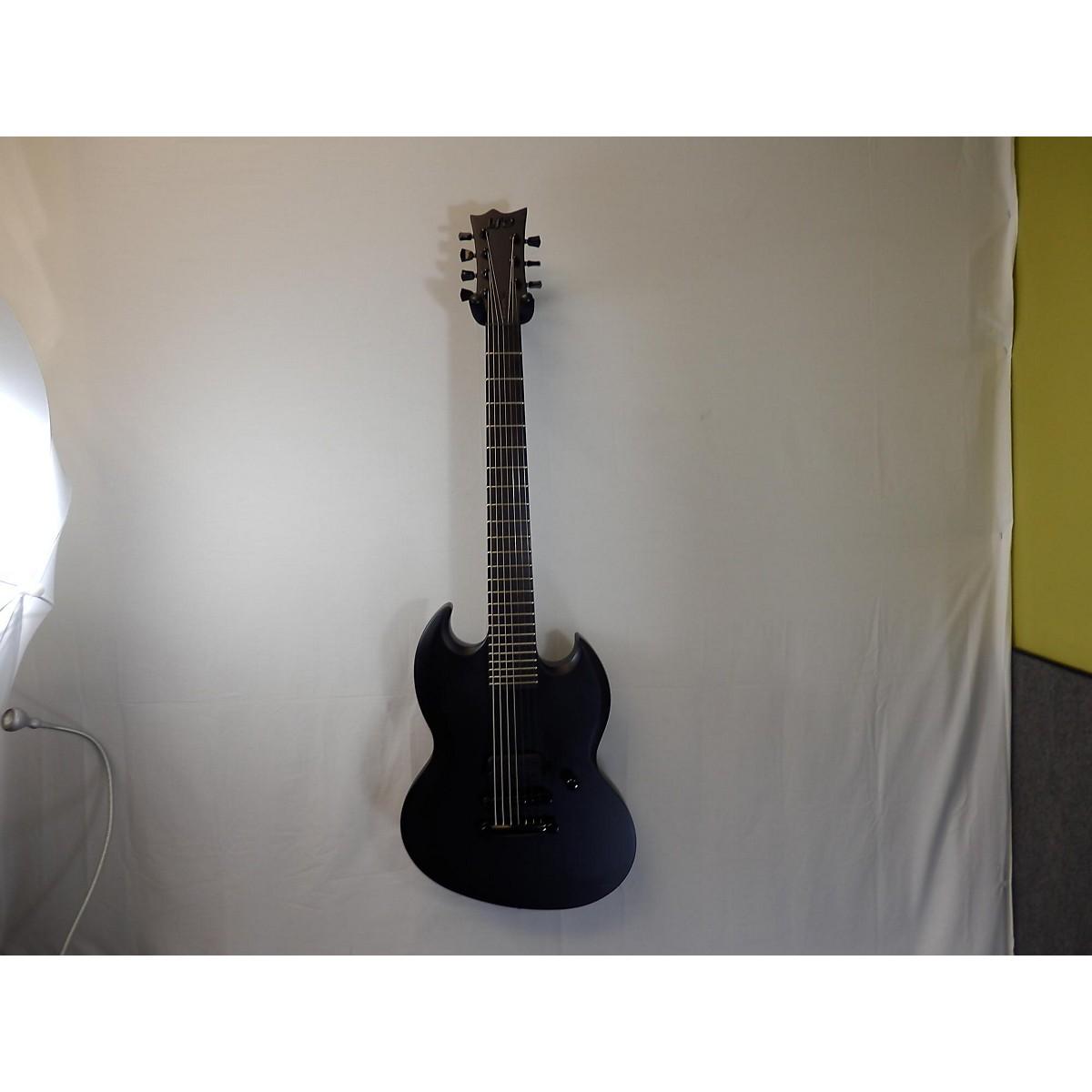 ESP LTD VIPER 7B BARITONE BLACK METAL 7 STRING Solid Body Electric Guitar