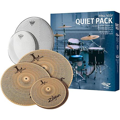 Zildjian LV468RH Low Volume Cymbal Pack with Remo Silentstroke Heads