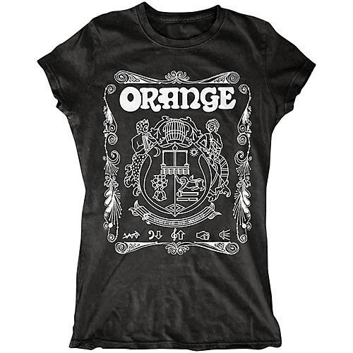 Orange Amplifiers Ladies Crest T-Shirt with White Crest