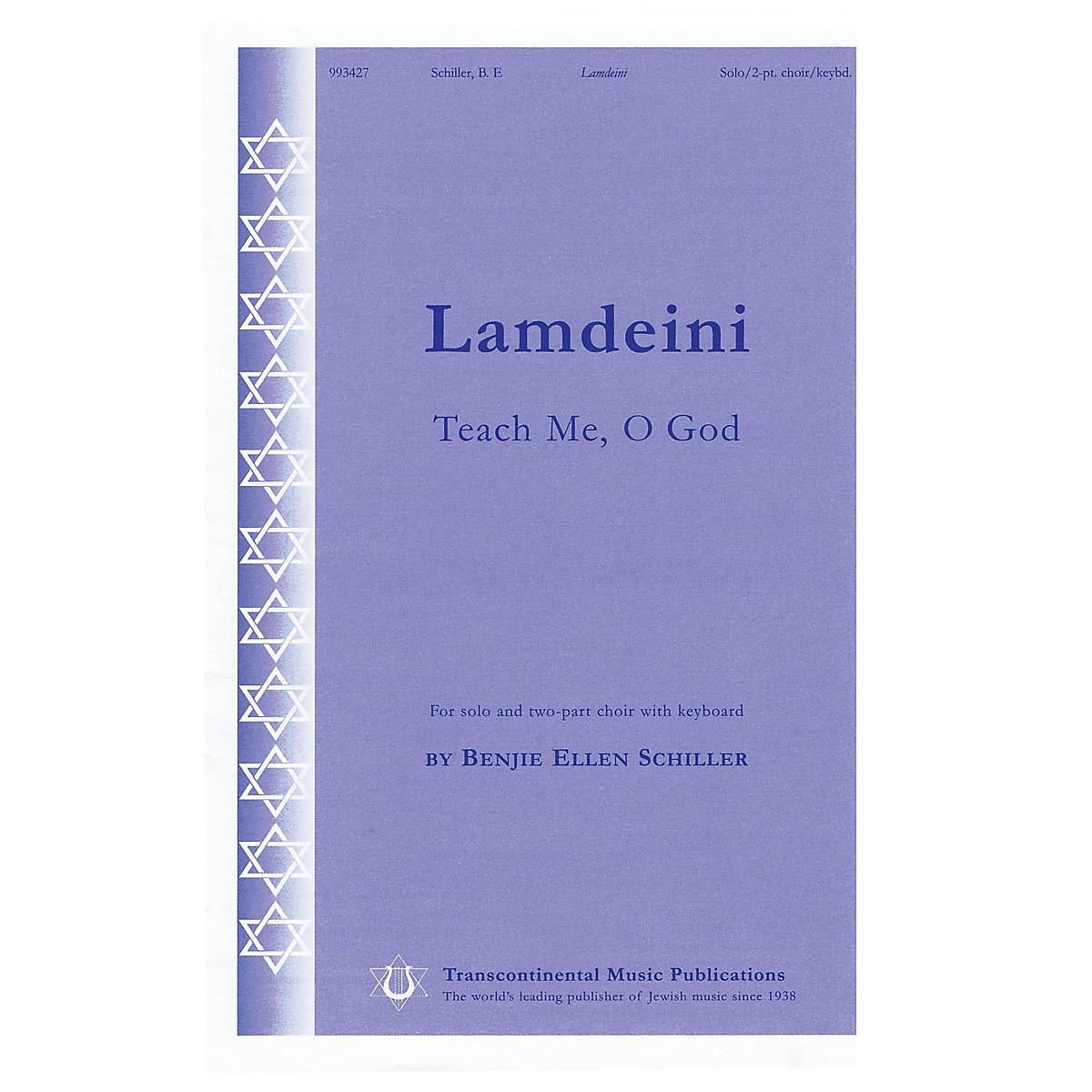 Transcontinental Music Lamdeini (Teach Me, O God) 2-Part composed by Benjie-Ellen Schiller