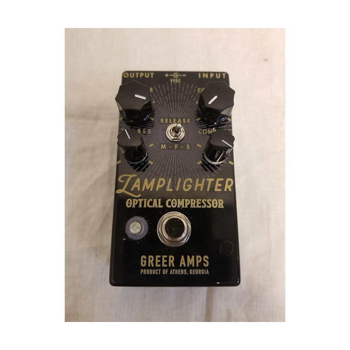 Greer Amplification Lamplighter Optical Compressor Effect Pedal