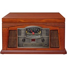 Crosley Lancaster All-in-one Belt-Drive Turntable Record Player with CD, Cassette and Radio