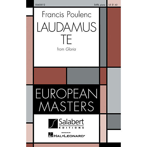 Editions Salabert Laudamus Te (from Gloria) SATB composed by Francis Poulenc