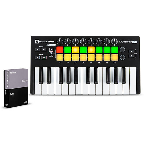Novation Launchkey Mini MKII with Ableton Live 10 Suite