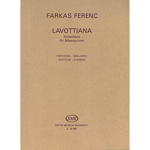 Editio Musica Budapest Lavottiana EMB Series by Ferenc Farkas