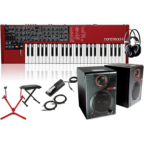 Nord Lead 4 Synthesizer with Matching Stand, RPM3 Monitors, Headphones, Bench, and Sustain Pedal