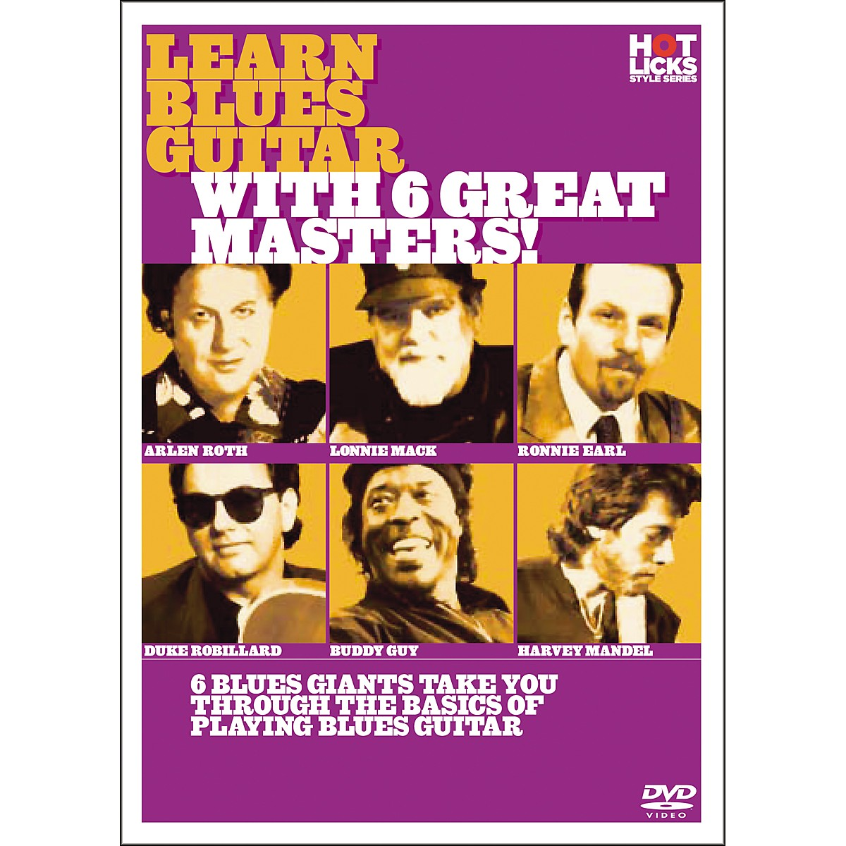 Hot Licks Learn Blues Guitar with 6 Great Masters DVD