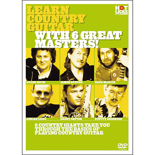 Hot Licks Learn Country Guitar with 6 Great Masters DVD